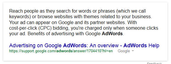 Adwords Explained