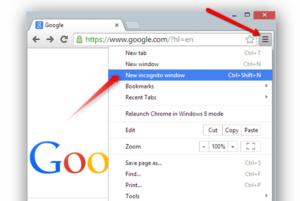 Google Incognito Window