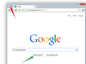 Google Chrome Incognito Icon and Add your Search Query